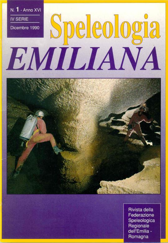 Speleologia Emiliana n° 1 - 1990
