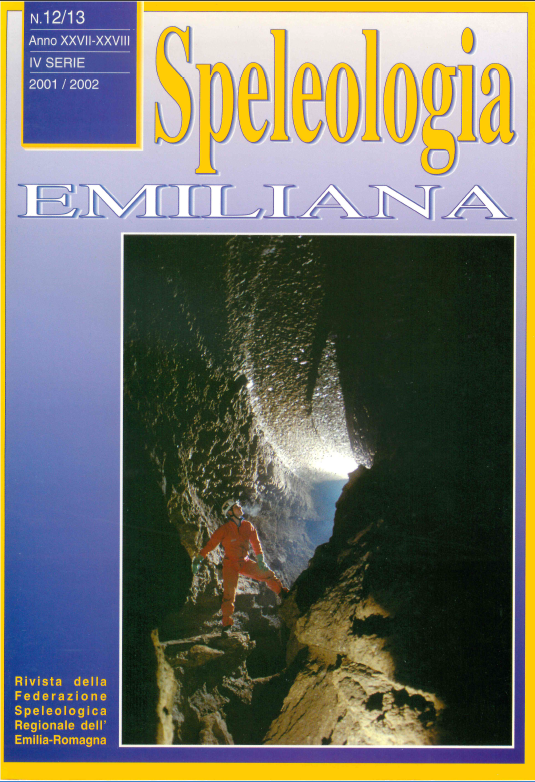 Speleologia Emiliana n° 12/13 - 2001/2002