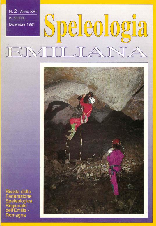 Speleologia Emiliana n° 2 - 1991
