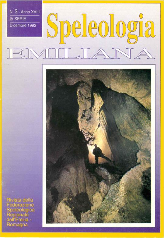 Speleologia Emiliana n° 3 - 1992