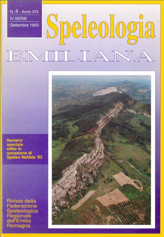 Speleologia Emiliana n° 4 - 1993
