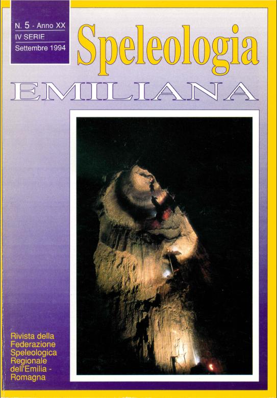 Speleologia Emiliana n° 5 - 1994